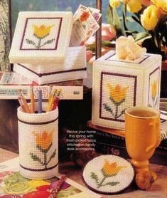 Tulip Desk Accessories Tissue Box Cover Plastic Canvas Pattern Instructions FOR SALE • $1.50 • See Photos! Money Back Guarantee. PATTERN ONLY REMOVED FROM A MAGAZINE The pattern is in Like New condition with colored charts that I carefully removed from a magazine. All patterns are original and have clean 171823124227