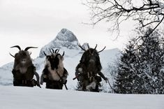 """"""" In the alpine region, many traditions that predate Christianity are still alive and revered by the local folks. One of them is the """"Klausentreiben"""" during the night of the sixth of. High Fantasy, Fantasy Art, Medieval, Ange Demon, Fantasy Creatures, Folklore, Character Inspiration, Fairy Tales, Moose Art"""