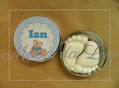 Lembrancinha de Maternidade em Latinha - latinhas personalizadas por Maria da Luz Lembrancinhas. Venha nos visitar