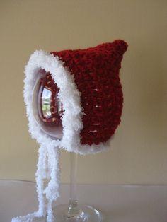 3864053f90ca3 Crochet hat baby Christmas elf pixie santa bonnet photo prop Handmade Free  Shipping Crochet Baby Boy