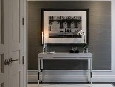 The Modern Sophisticate: Eye Candy: Grey Grass-Cloth Wallpaper