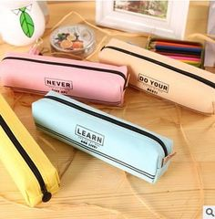 1 PIECE New hot creative school student pencil bag English words style canvas pencil case pupils stationery children's gift School Pencil Case, Cute Pencil Case, Cool Journals, Art Mat, Cute Stationary, Pencil Writing, Pencil Bags, Childrens Gifts, Office And School Supplies