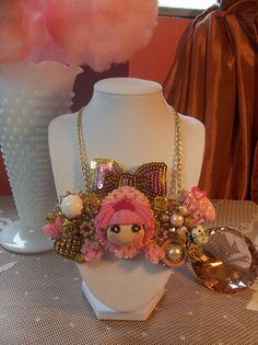 Lalaloopsy bib necklace by gumdropglamour on Etsy, $60.00
