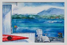 Coastal Landscapes (watercolors) on Behance 2 Watercolor Landscape, Painting & Drawing, Watercolors, Coastal, Landscapes, Behance, Fine Art, Drawings, Paisajes