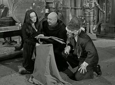 """Ep 19 """"There's no fish on The Moon,"""" Fest explains, """"We need new fish for our aquarium. Our fish ate each other up. The Addams Family 1964, Adams Family, Charles Addams, Carolyn Jones, Jones Family, Anatomy Sketches, The Munsters, New Yorker Cartoons, Steve Aoki"""