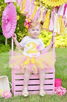 Pink Lemonade Themed Birthday Tutu Outfit, Pink and Yellow Lemonade Stand Birthday Tutu Set, First Birthday Lemonade Party Outfit