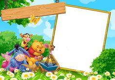 winnie the pooh and friends kids transparent frame png Winnie The Pooh Themes, Winnie The Pooh Cake, Winnie The Pooh Birthday, Winnie The Pooh Friends, 1st Boy Birthday, Frame Border Design, Photo Frame Design, Birthday Frames, Cute Coloring Pages