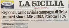 Oggi Sicilia, domani Italia: M5S al 38%, Pd sotto il 10