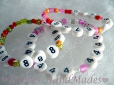 Personalized Emergency phone number Bracelet ID find me fast security children vacation number beads lost child  code adam. $3.00, via Etsy.