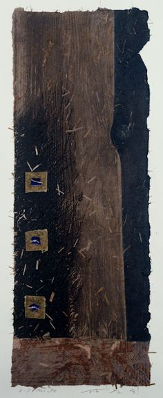 D-5.Nov.1990wood cut/ mono-type print, collage林孝彦 HAYASHI Takahiko 1990