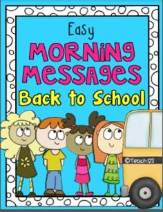 BACK TO SCHOOL - EASY MORNING MESSAGES - Ten morning messages with a Back to School theme that are aligned with Common Core are included in this packet. These work great for emergency sub plans or those days when you get pulled from class for a last minute meeting. Answers are included so you could also set this up as a self-checking writing center. #MorningMessages #Phonics paid