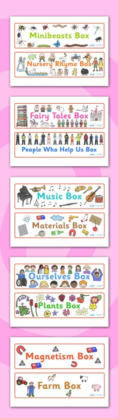Twinkl Resources >> Topic Box Labels >> Printable resources for Primary, EYFS, KS1 and SEN. Thousands of classroom displays and teaching aids! Labels, Topics