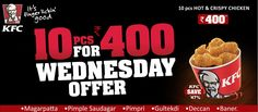 KFC's Wednesday Offer, hot and crispy chicken@ 400! Order online @ zaykedaar.com