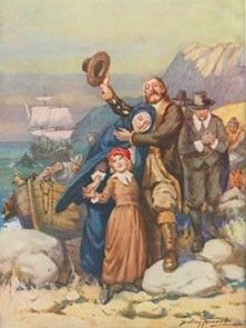 Mary Love Wentworth came with her husband, William Brewster, on the Mayflower in 1620.  After a long vogage across the Atlantic Ocean, the pilgrims rejoiced when landing.