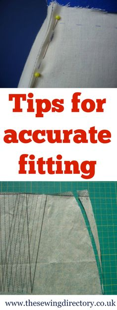 Tips for accurate fitting when  from sewing expert Lorna Knight