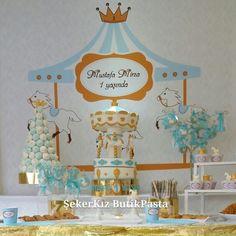 Carousel Cake Boy 1 years parti