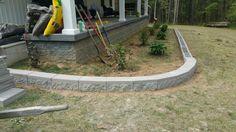 Using leftover block for landscaping.