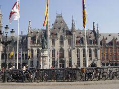 Market Square Bruges Brussels Belgium