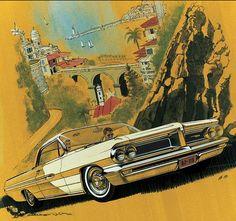 Art Fitzpatrick and Van Kaufman - Pontiac Car Illustrators, 1959-1971