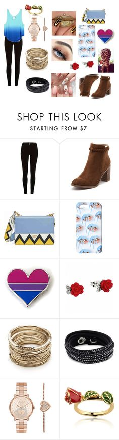 """""""Going Out"""" by mgonzalex on Polyvore featuring River Island, Victoria's Secret, Billini, Prada, Sole Society, Swarovski, Michael Kors and Disney"""
