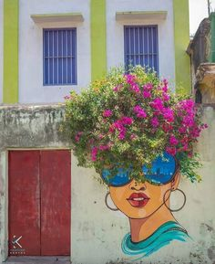 … Check out www.indiacontempo… for the latest on indian culture Street Art Love, Amazing Street Art, Graffiti Wall Art, Mural Wall Art, Flower Graffiti, Graffiti Artists, Graffiti Lettering, Murals Street Art, Street Art Graffiti