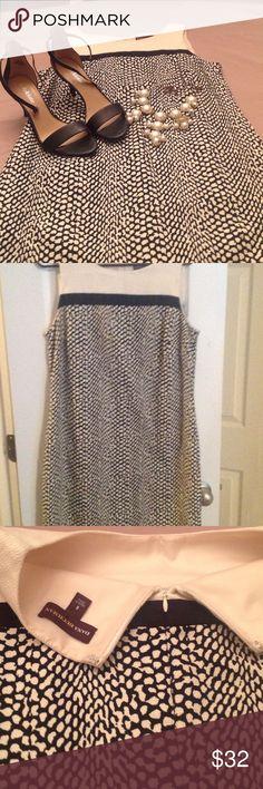 Dana Buchman size 8 dress, black/cream, classy So pretty and stylish.  Machine wash.   Lined. Dana Buchman Dresses