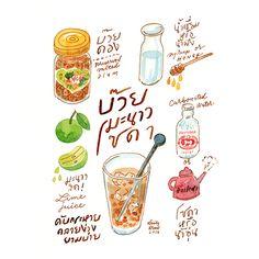 วาดขนมไทย