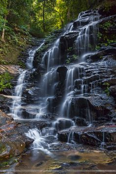 A full view of the Sylvia Fall Wentworthville, Blue Mountains NSW Australia