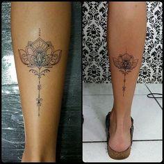 Renetattoo: Flor de lotus trabalho em Linha by @renetattoo #sevenstarstattoo #saopaulo #saopaulotattoo ...
