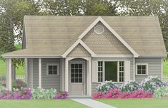 See the Mercer Lane Country Cottage that has 1 bedroom and 1 full bath from House Plans and More. See amenities for Plan