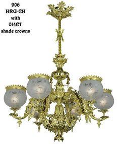Victorian-Chandelier---Neo-Rococo-Starr-Fellows-Circa-1856-6-Light-(906-HRG-CH)