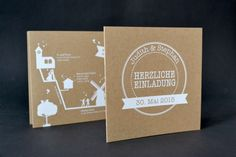 Eine herzliche Papeterie: aus Recyclingpapier mit weißem Aufdruck