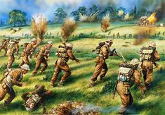 1940 counterattack of the Third Battalion Grenadier Guards near Ypres, on May 27, 1940. Peter Dennis