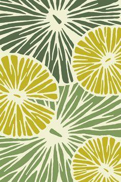 Designer Rug - Pond Life - Spring green