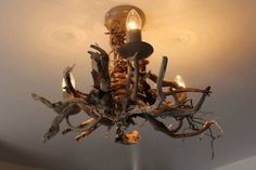 Driftwood Chandelier,Three light driftwood pendant,Drift Wood Light fitting  £190.00