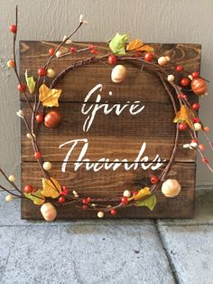 A personal favorite from my Etsy shop https://www.etsy.com/listing/482629295/rustic-fall-wood-pallet-sign-w-berry