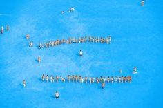 Aerial Photographs of Vacationers in the Adriatic Sea – Fubiz Media