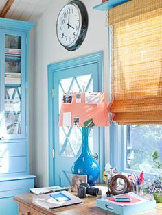 Colorful Decorating Ideas - Ruthie Sommers Design - House Beautiful  Corals & Blues