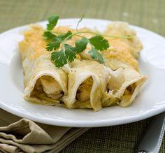 Chicken Enchiladas ~ Heat Oven to 350