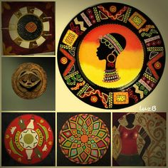 Aboriginal Patterns, Aboriginal Dot Art, African Colors, African Theme, Arte Tribal, Tribal Art, Folk Art Flowers, Flower Art, Afro Painting