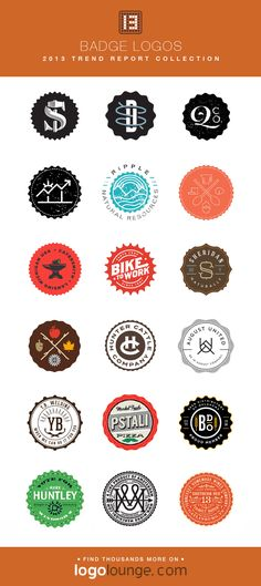 2013 LogoLounge Trend Report Collection - Badge Logos Lockups of text and images are contained within overall badge shapes, with decorative edges. #logos #LogoLounge #2013 Monogram Fonts, Monograms, Typography Logo, Logo Branding, Badge Template, Logo Samples, Roman Jewelry, Portfolio Logo, Alcohol Bottles