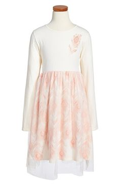 Billieblush Long Sleeve Tulle Dress (Toddler Girls, Little Girls & Big Girls) available at #Nordstrom
