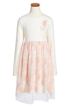 BillieblushLong Sleeve Tulle Dress (Toddler Girls, Little Girls & Big Girls) available at #Nordstrom