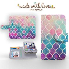 WATERCOLOR DETACHABLE WALLET CASE FOR APPLE IPHONE 4 5 6 S C PLUS IPOD TOUCH