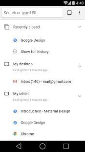 Prehliadač Google Chrome – miniatúra snímky obrazovky