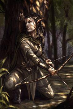 Wood elf by Bakirasan on deviantART just with shorter hair