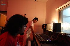 In the studio with the Guru of Indian Rock N Roll...Dr. Palash Sen..crazy DnB calling!