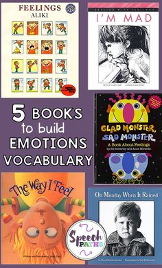 Help kids build emotions vocabulary with books and activities!