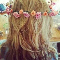 Floral crown #diy