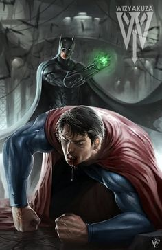 Batman vs Superman, by Wiz Yakuza. How does Superman get out of this one? Poster Superman, Posters Batman, Superhero Superman, Im Batman, Batman Art, Super Batman, Funny Batman, Batman Arkham, Dc Comics Art